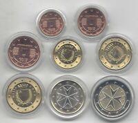 Malta serie completa circulación Euro 2013 @@ 8 VALORES @@