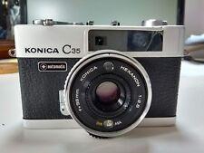 Konica C35 35mm Auto Cámara De Cine-Hexanon 38mm f2.8 Lente Repuestos O Reparación