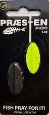 Praesten Micro Durchlaufblinker aus Dänemark 1,8 gr. - Farbe: schwarz/chartreuse