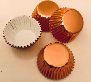 60 x PETITE FOUR SWEET CASES ROSE GOLD FOILED Colour Design FESTIVE Truffles