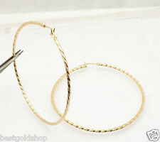 "Bellezza 2.75"" Round Large Twisted Hoop Earrings Bronze Yellow"