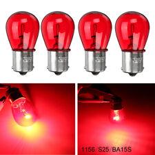 4x 1156 RED 12V 21W BA15S Light Bulb Auto Car Brake Stop Signal Turn Tail Lamp