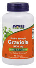 Graviola 1000 mg, Double Strength 90 Tablets NOW Foods Fresh *Free Shipping*