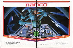 NAMCO_/_BOSCONIAN__Original 1981 Trade Print AD / arcade promo__Shusei Nagaoka