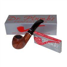 Dr Plumb Dinky 9mm Briar Pipe - Walnut Brown - 4518WalnutBrown (inc 10 filters)