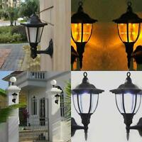 Outdoor Solar Powered LED Path Way Wall Landscape Mount Garden Fence Lamp Light