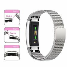 Stainless Steel Magnetic Loop Band Strap For FitBit Charge 2 Wristband Watch