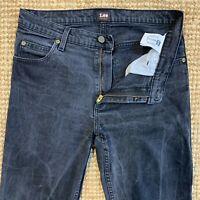 Lee Brooklyn Mens Straight Leg Stretch Jeans Regular Fit Denim Size W32 L34