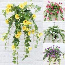 Fake Silk Morning Glory Hanging Artificial Flower Vine Wedding Decor