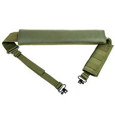 Tactical Green Shotgun Sling + Shell Carrier + QD Swivels For Mossberg 590 SA-20