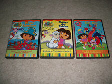Dora the Explorer (DVD, 3 PACK) Pirate Adventure, Rhymes, Silly Fiesta **Good*