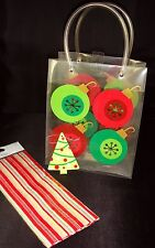 Gift Bag, Tag & Tissue Christmas Present Durable Plastic with Handles