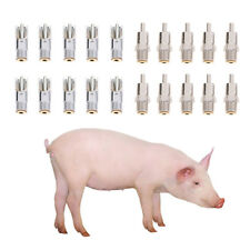10pcs Automatic Pig Nipple Water Drinker Waterer for Sows Piglets Drinking