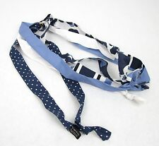 New Gucci Men's Blue Cotton Foulard Scarf 313310 4277