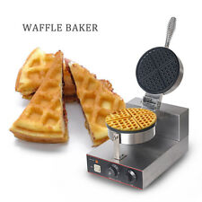 Commercial Nonstick 220v Electric Dual Rotary Waffle Baker Maker Machine