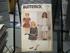 6713 BUTTERICK SEWING PATTERN UNCUT CHILDREN'S DRESS GIRLS SIZE 3 UNCUT RUFFLES