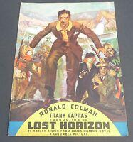 FRANK CAPRA LOST HORIZON MOVIE VINTAGE 1930s COLUMBIA PICTURES  PROGRAM