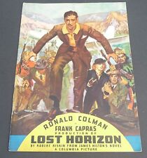 FRANK CAPRA LOST HORIZON MOVIE VINTAGE 1930s COLUMBIA PICTURES  PROGRAM