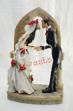 Wedding Skeleton Cake Topper-Bride-Groom-Halloween Party Supply- Figurine
