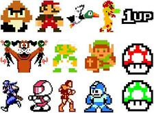 "Lot of 14 Nintendo NES 8-bit 2"" Vinyl Decal Sticker Emblem Mario Zelda Mega Man"