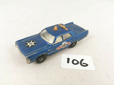 RARE VINTAGE MAJORETTE FRANCE # 216 PLYMOUTH FURY US POLICE CAR DIECAST TOY