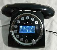 Sagemcom Sixty Cool Retro Digital Phone Black Cordless With Answering Machine