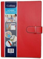 Collins A4 Pad Folio with Strap/ Wiro Notebook - Red . Great Gift