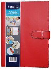 Collins A4 Pad Folio Con Correa / WiRo Notebook-Rojo. Excelente Regalo