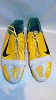 Nike Bowerman Track and Field Shoes Size 11 Spikes Green Yellow