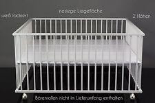 """Laufgitter Babybett Kinderbett Laufstall in xxl Größe 140 x 140 cm """"weiß"""""""