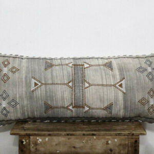 Moroccan Sabra Silk Inspired Cotton 12 X 28 Sofa Pillow Cover