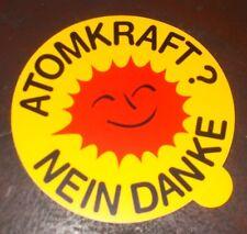 Atomkraft Nein Danke  Aufkleber 2 CV ca 11 cm Wetterfest UV beständig Auto