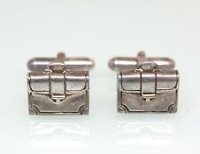 Silver Attache Briefcase Cufflinks Tiffany & Co. Sterling