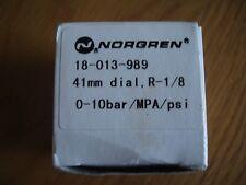 Norgren Pressure Gauge 18-013-989 0-10 Bar 41mm Dial Postage