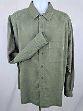 Woolrich Men's Plaid Green Long Sleeve XL Button Down