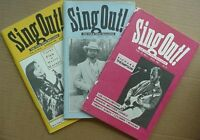 SING OUT! MAGAZINES (3) 1987-88 (BILL STAINES, FINK & MARXER, RICHARD THOMPSON