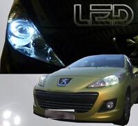 Peugeot 207 2 Ampoules LED Blanc Eclairage Veilleuses Feux position anti erreur