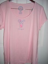 "NWT!  LIFE IS GOOD WOMENS S/S LIGHTWEIGHT VEE TEE...INVITING  ""LEMONADE""   (XL)"