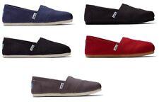 TOMS Women's CLASSIC Solid Canvas Slip on flats shoe's US Sizes 100% Original