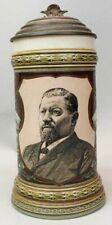 1891 Pre-Prohibition Ehret Hells Gate Brewery Advertising Mettlach Beer Stein