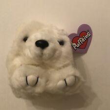 "Swibco Puffkin Crystal the Polar Bear Bean Bag Plush with tag, 4"""