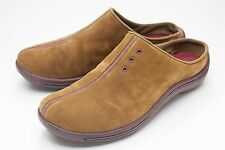 Clarks 6 Brown Suede Clogs Slip On Womens Shoes