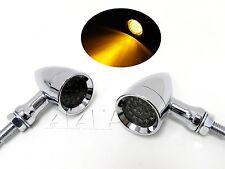SMOKE Motorcycle Bullet LED Turn Signal Indicator Lights Moto Guzzi Cafe Racer