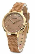Emporio Armani Womens Analogue Quartz Watch with Leather Strap AR11151