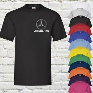 Mercedes Benz AMG T-Shirt Motorsports Racing Drifting Formula 1 Gift Mens Top