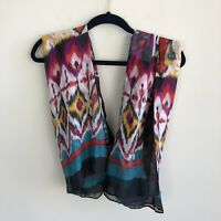 Apt. 9 Women's One Size Multicolor Aztec Print Scarf Polyester Medium Weight