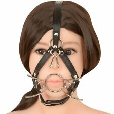 Metal-Ring-Open-Mouth-Gag-Ball-Gag-Nose-Hook-SM-Tools-Slave-Mouth-Plug-Full-Head