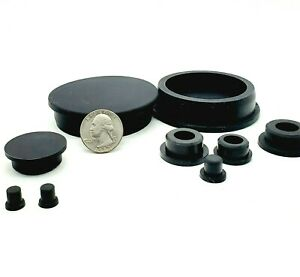 """Rubber Hole Plugs Push-In Compression Stem Multiple Sizes 7/8"""" - 2 1/2"""" Silicon"""