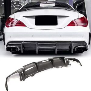 Carbon Fiber Rear Bumper Diffuser for Mercedes Benz W117 C117 Sport & CLA45 AMG
