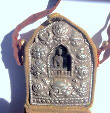 Tibetan EARTH PRESERVER BUDDHA Gau Ghau Prayer Box Shrine in Cloth Case #20